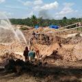Upeti Penambangan Emas Tanpa izin di Diduga Stor ke Oknum Ber inisial NNcs
