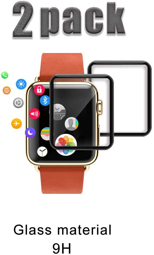 40% Off  [2-Pack] Tempered Glass Screen Protector for Apple Watch Series 4/5 40mm