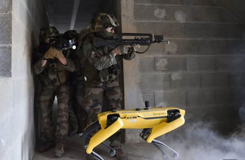 The French Army tests the Spot robot in combat training
