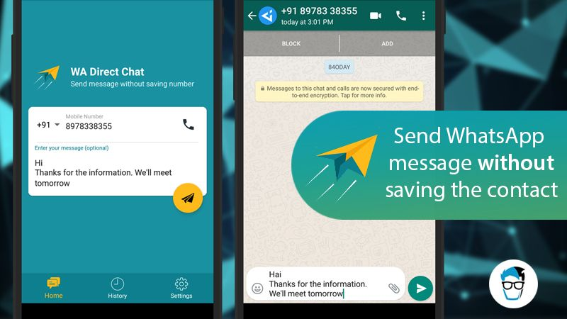How To forward WhatsApp Message to someone who is not in your contact?