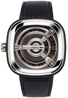 SEVENFRIDAY M1/03 M-Series Automatic Black Leather Strap