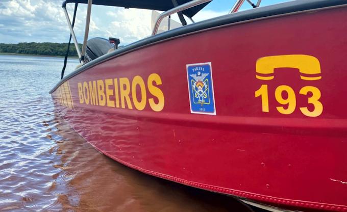 Bombeiros de Santa Helena iniciam buscas por homens desaparecidos no Lago de Itaipu