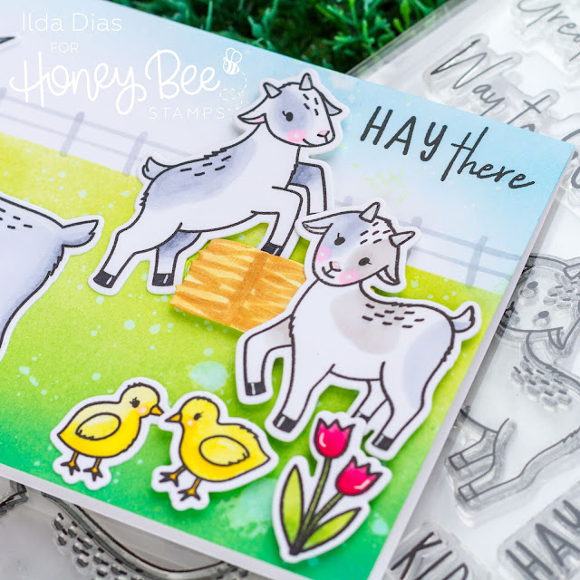 Hay There - Way to Goat Farm Scene Card - Day 4 Sneak Peek Honey Bee Stamps 5th Anniversary Release