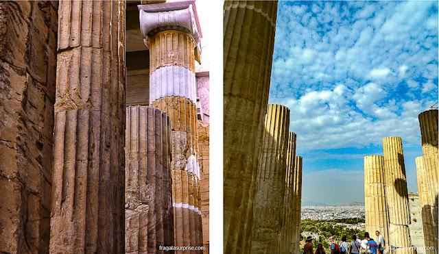 Colunas do Propileu da Acrópole de Atenas