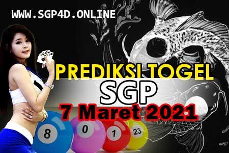 Prediksi Togel SGP 7 Maret 2021