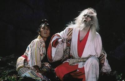 tatsuya nakadai as lord hidetora in ran, directed by akira kurosawa, royal jester