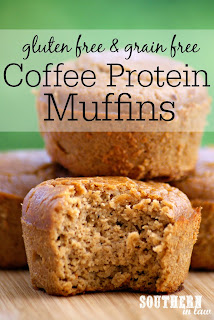 Grain Free Flourless Coffee Protein Muffins Recipe