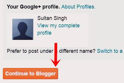 Ab continue blogger par click kare