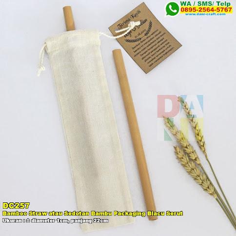 Bamboo Straw Atau Sedotan Bambu Packaging Blacu Serut