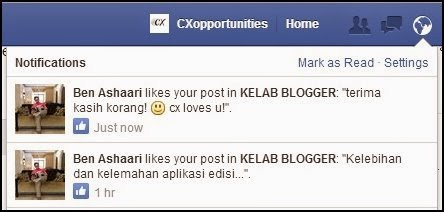 Abg Ben Like Status CX okay! Haha!