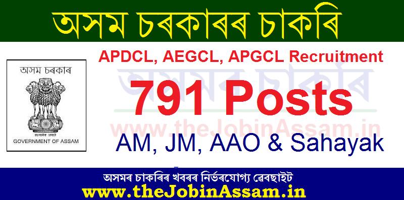 Assam Power Department Recruitment 2020