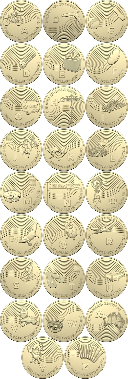 Australia 1 dollar 2019 - The Great Aussie Coin Hunt A-Z