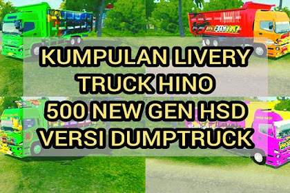 13 Livery MOD Truk HINO 500 NG HSD Dumptruck BUSSID