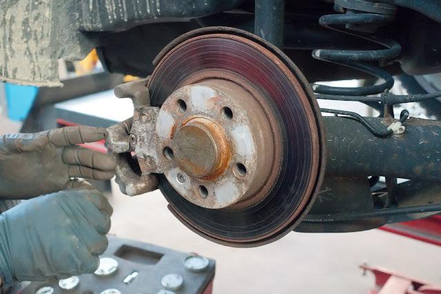 Disques de frein rouillés