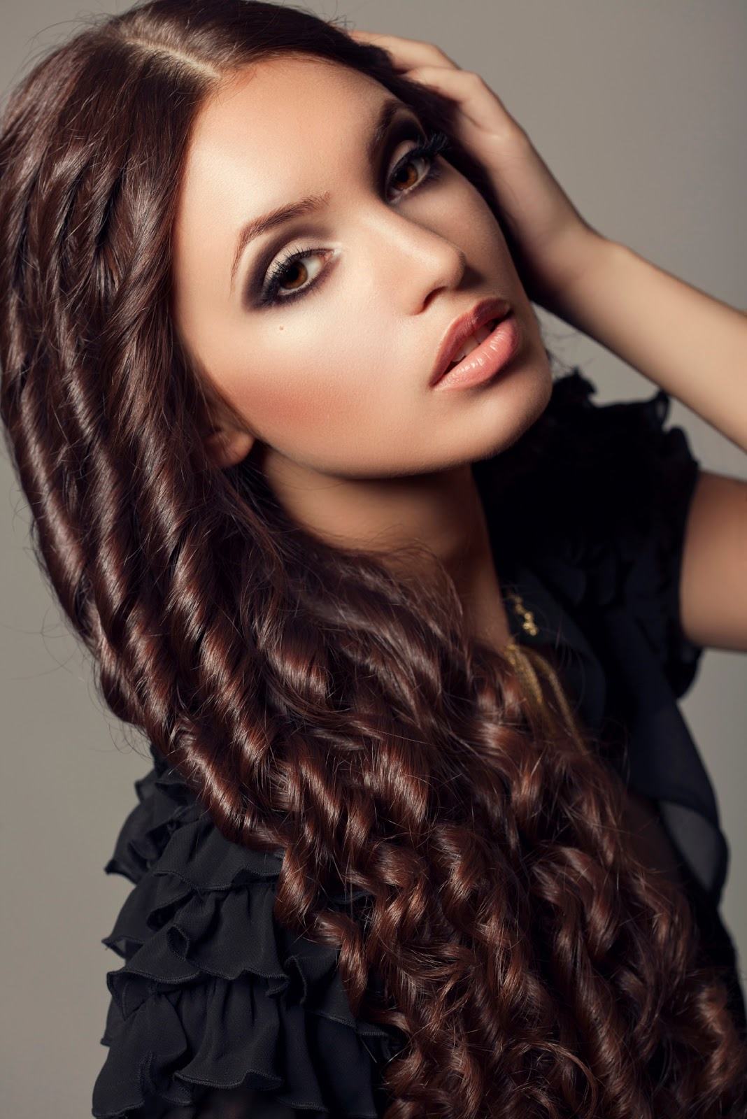 Latest Women Best Winter Dresses Designs Collection 2014 2015: Latest Curly Hairstyles For Women 2013