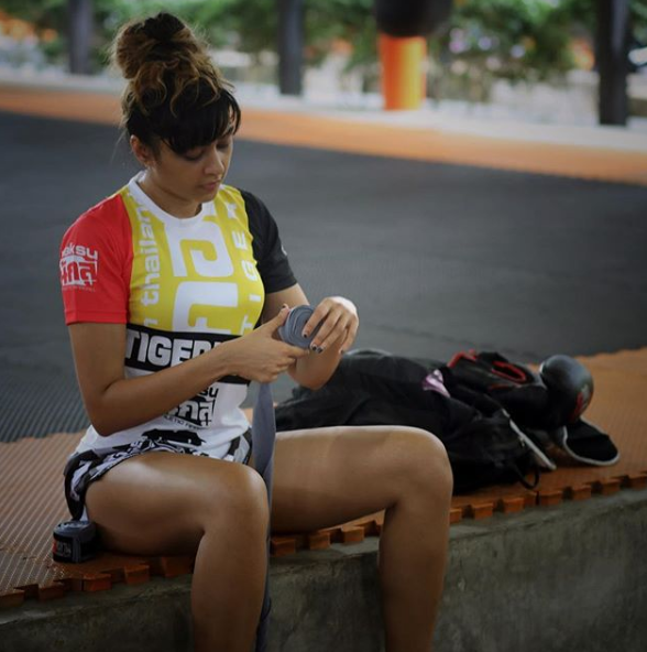 sapna during her training session