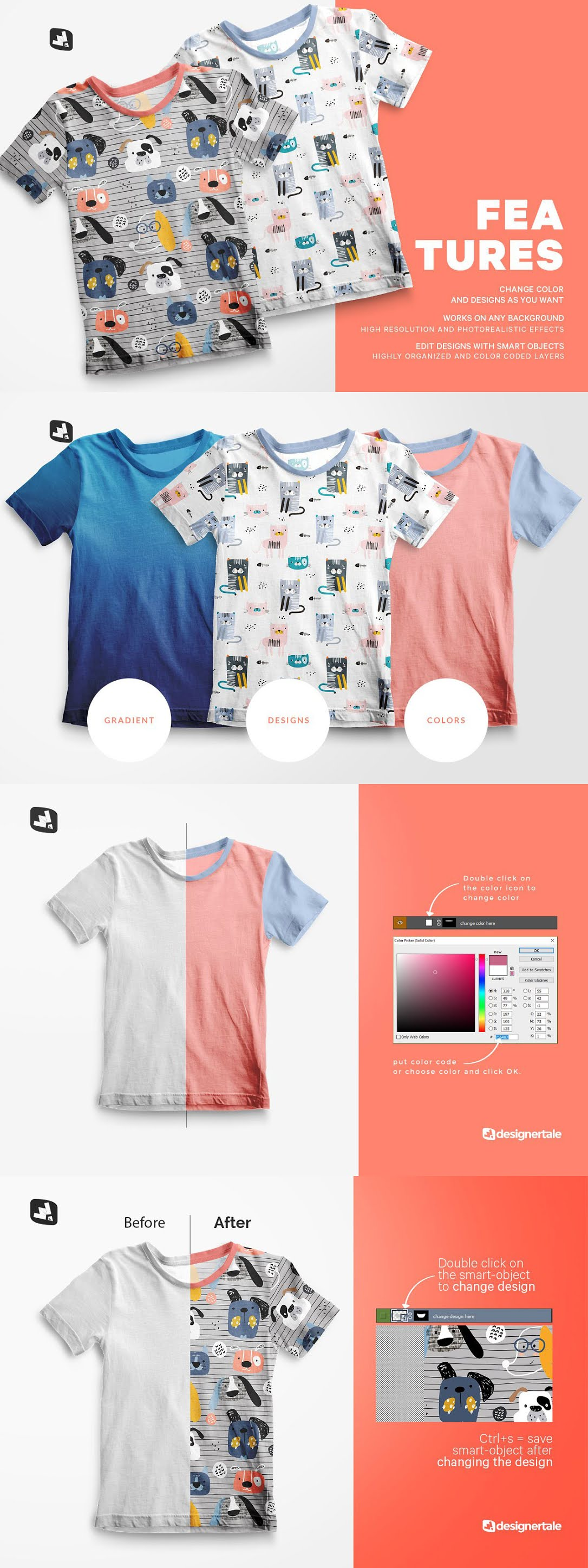 Top view Boy%25E2%2580%2599s Summer Tshirt Mockup 4737638 Free Download