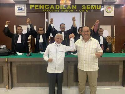 Pengadilan Semu Fakultas Hukum UNA Jadi Pilihan Paslon Surya Taufik Menghadiri Sidang Daring Sengketa Pilkada