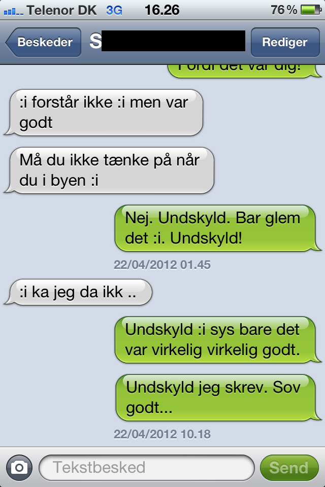 Flirter pa sms
