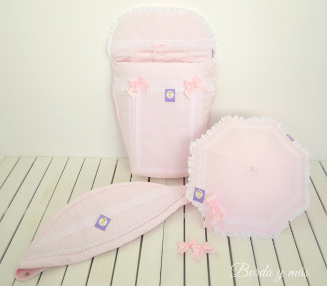 capota silla BEBECAR IPOP XL rosa blanco