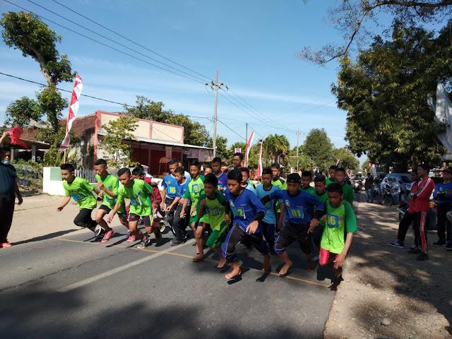 Inilah Keceriaan Siswa MTs Ma'arif NU Tanjungsari, Saat Gelar Agustusan Di Ponorogo