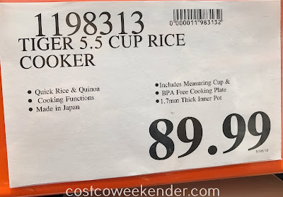 Deal for the Tiger Rice Cooker/Warmer at Costco