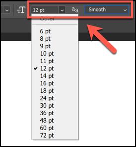 انقر فوق السهم الموجود بجوار رمز T الصغير والكبير لتغيير حجم النص ، وانقر فوق السهم الموجود بجوار رمز A المزدوج لتغيير مدى وضوح النص أو سلاسة.