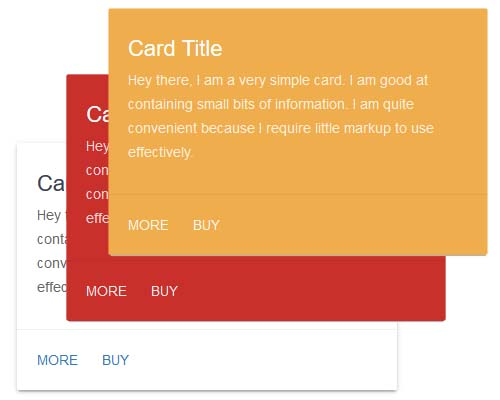 Material Design Card for Bootstrap