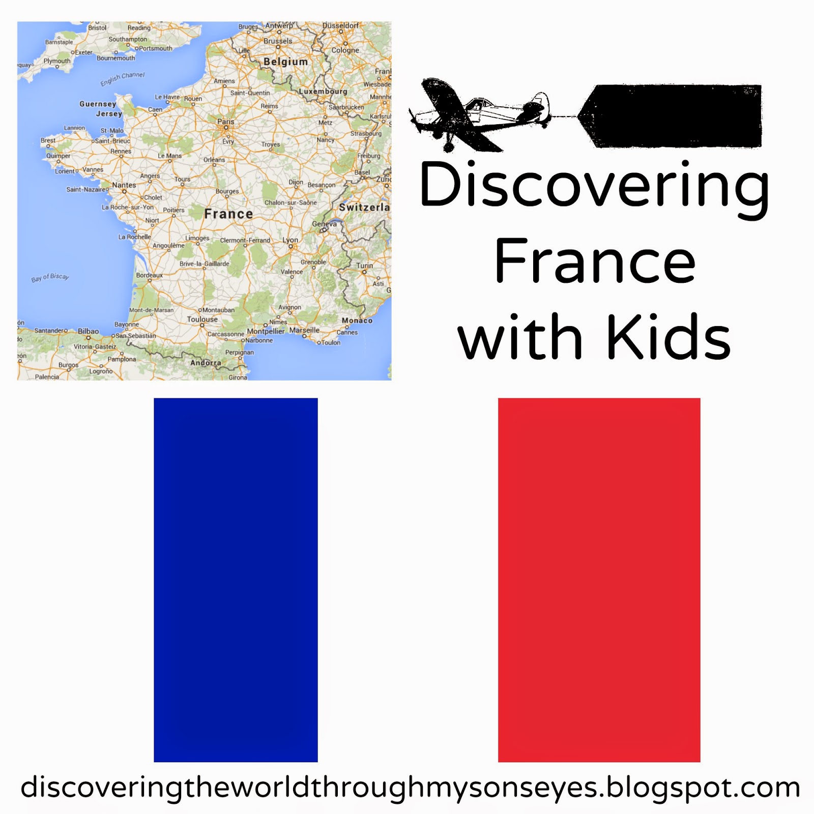 Discovering France With Kids Puffy Paint Flag Activity