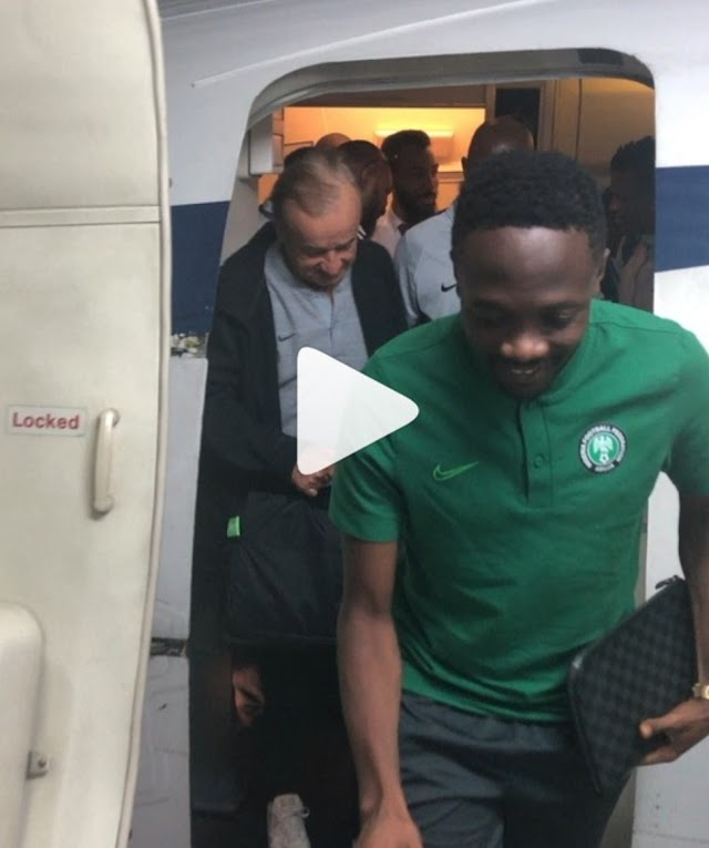 Super Eagles Thankful As They Return From Egypt After Just Concluded AFCON 2019