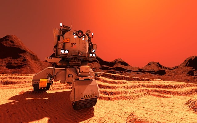 Aerospace robot on the moon Future scope of robotics