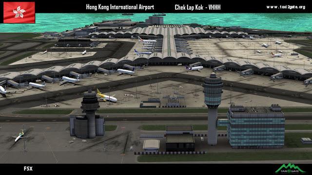 Taxi2Gate Hong Kong Int  Airport VHHH [FSX/P3D] - Ariel Creation