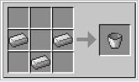 how to make bucket in minecraft