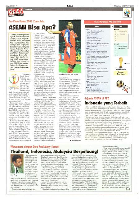 PRA-PIALA DUNIA 2002 ZONA ASIA ASEAN BISA APA