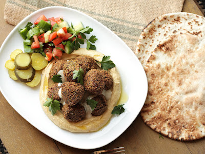 Rinse chickpeas and place in a large bowl Easy, Herb-Packed Falafel Recipe