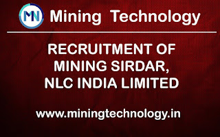 RECRUITMENT OF MINING SIRDAR, NLC INDIA LIMITED