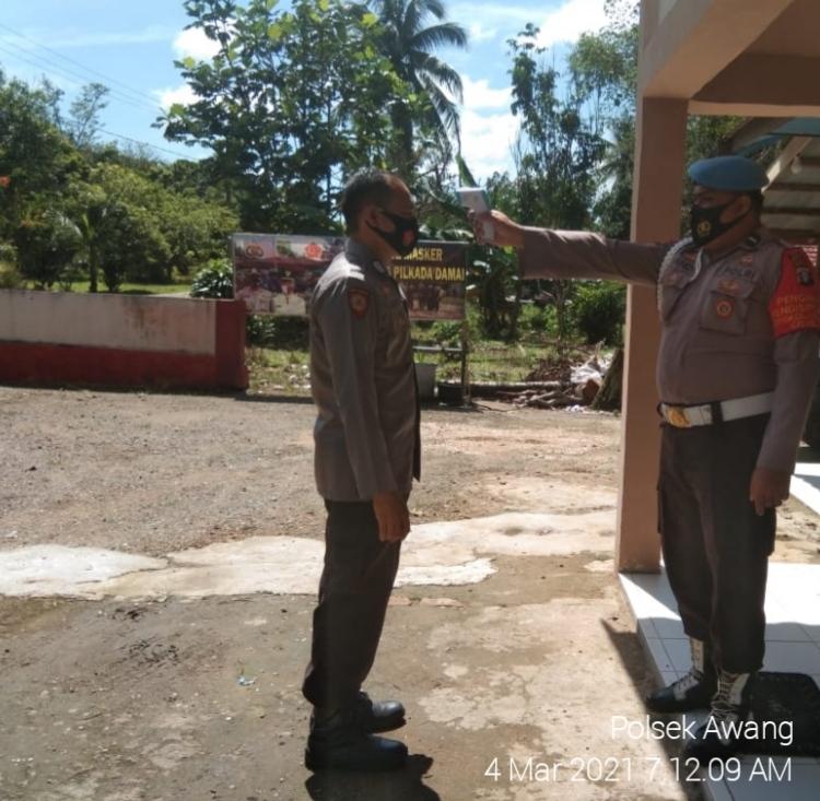 Personil Polsek Awang, Laksanakan Pendisiplinaan Internal di lingkungan Kantor