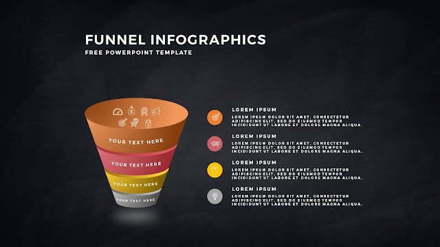 Free Infographic PowerPoint Templates for Marketing and Sales Funnel Presentation Slide 1