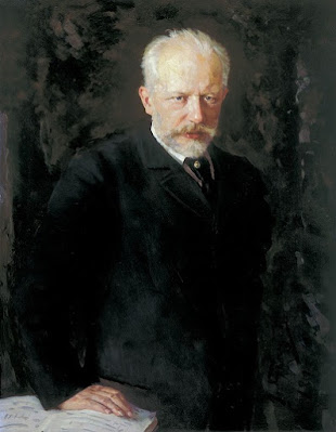 Porträt des Komponisten Pjotr I. Tschaikowski