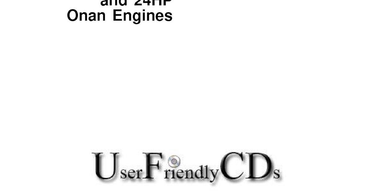 John Deere 16 18 20 and 24H Onan Engines Technical Repair