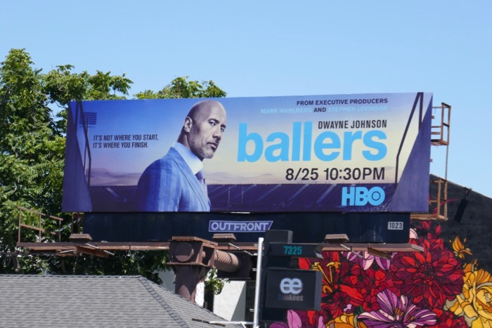 Dwayne Johnson Ballers season 5 billboard