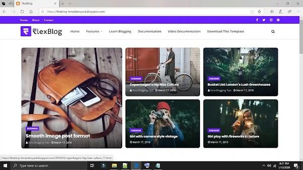 Flexblog premium blogger template free download