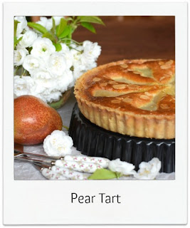 With a classic flavour combination, this Pear and Almond Tart not only looks inviting but also tastes amazing too.  The frangipane tart was glazed with a little apricot jam to produce a wonderful sheen.