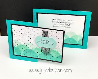 Stampin' Up! Sale-a-Bration Favorites: Textures & Frames & In Your Words Belated Birthday Card + Sunday Stamping Video ~ www.juliedavison.com #stampinup #saleabration