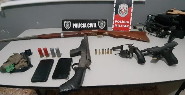Polícia realiza operação de combate a roubos e tráfico na região de Solânea