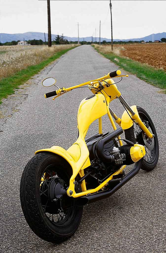 MOTORCYCLE 74: Custom BMW chopper by Francis Villedon