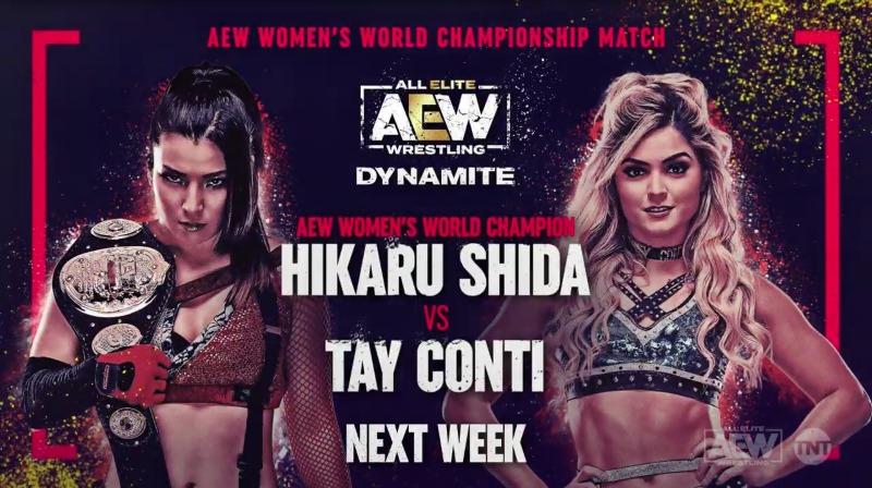 Tay Conti lutará pelo AEW Women's World Championship