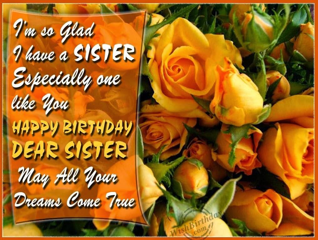 Birthday Wishes Elder Sister