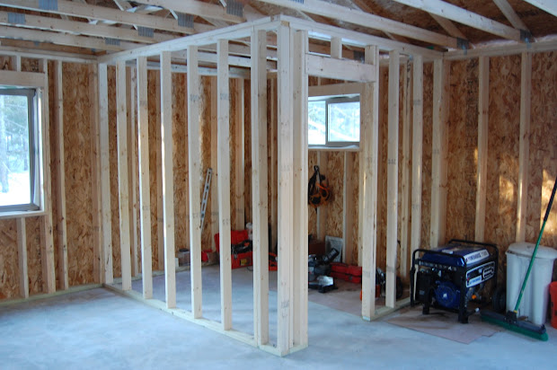 Interior Wall Framing with Door