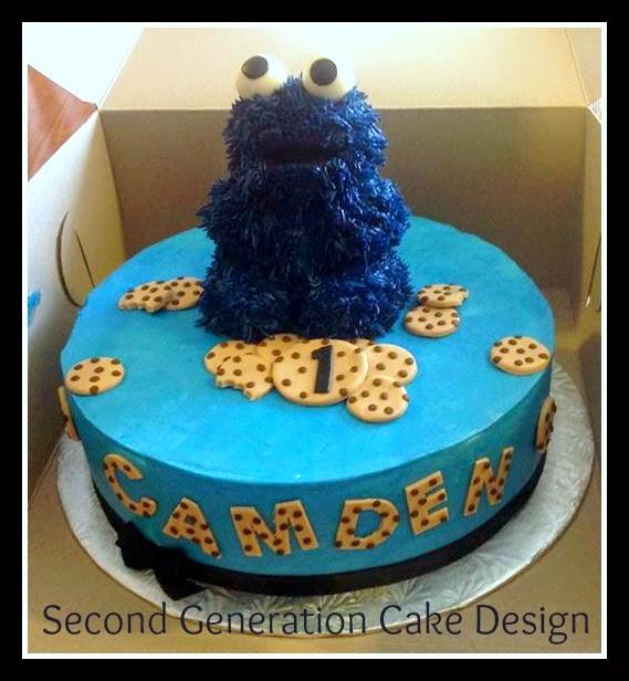 Second Generation Cake Design: Cookie Monster 1st Birthday